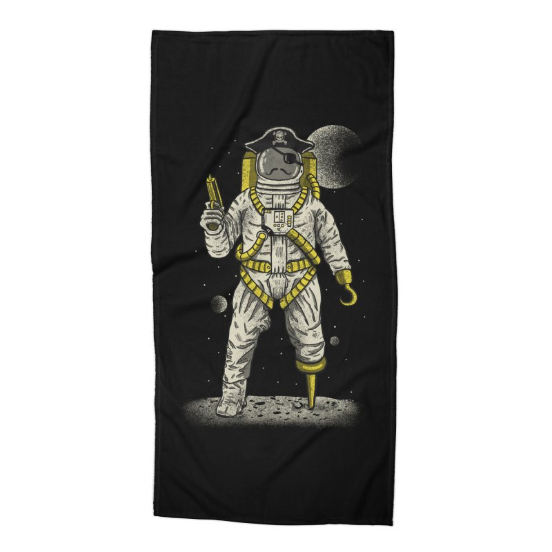 Astronaut Pirate Accessories Beach Towel by Fathi