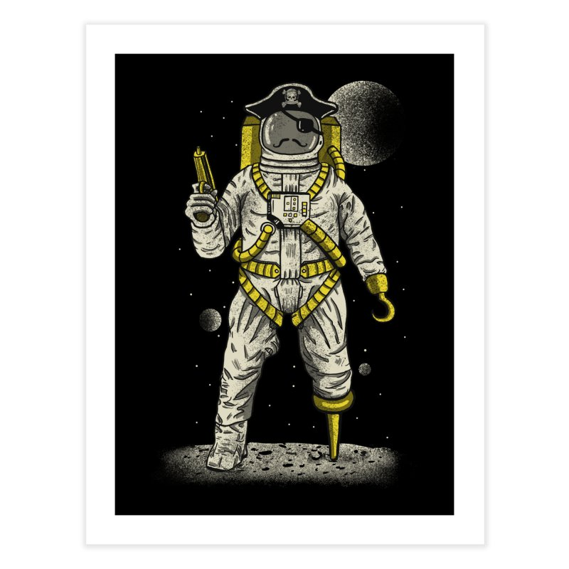 Astronaut Pirate Home Fine Art Print by Fathi
