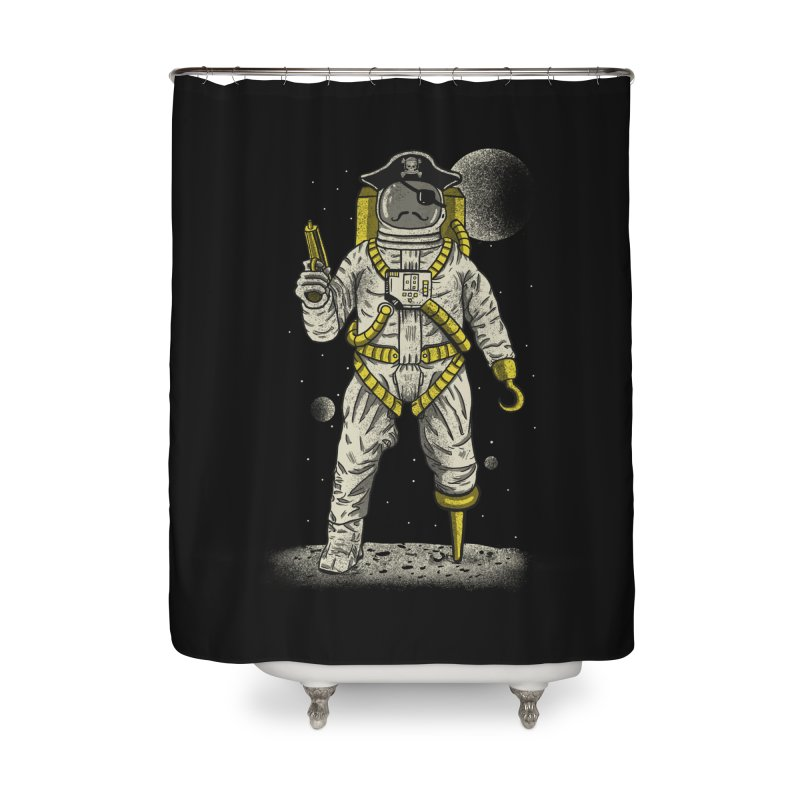 Astronaut Pirate Home Shower Curtain by Fathi