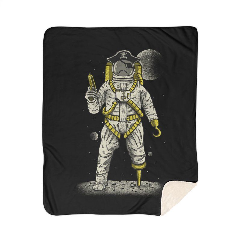 Astronaut Pirate Home Sherpa Blanket Blanket by Fathi
