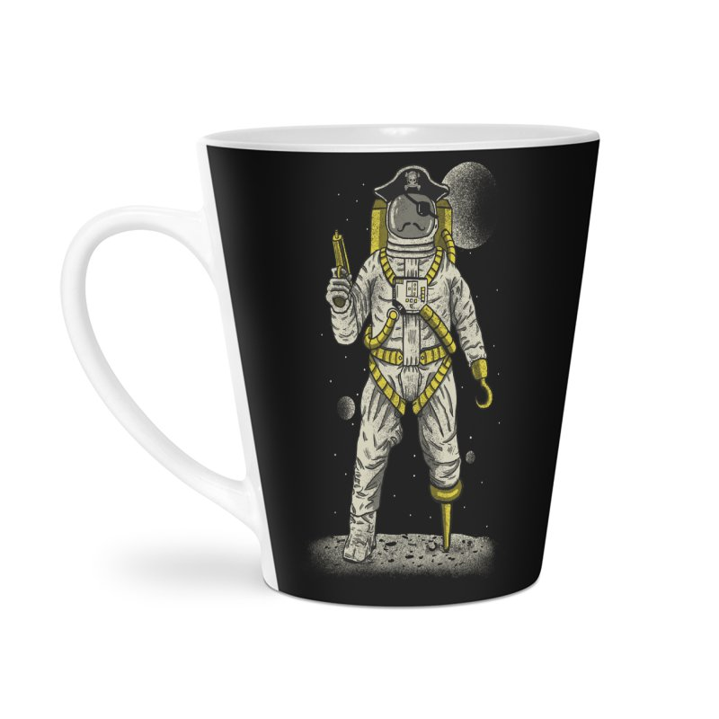 Astronaut Pirate Accessories Latte Mug by Fathi