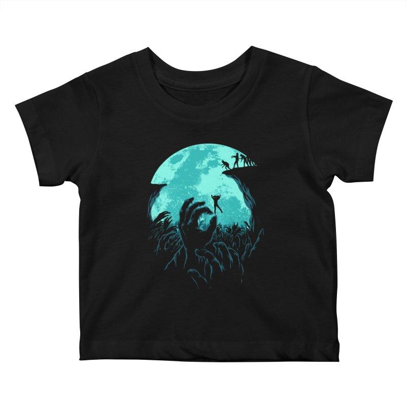 Sky Fall Kids Baby T-Shirt by Fathi