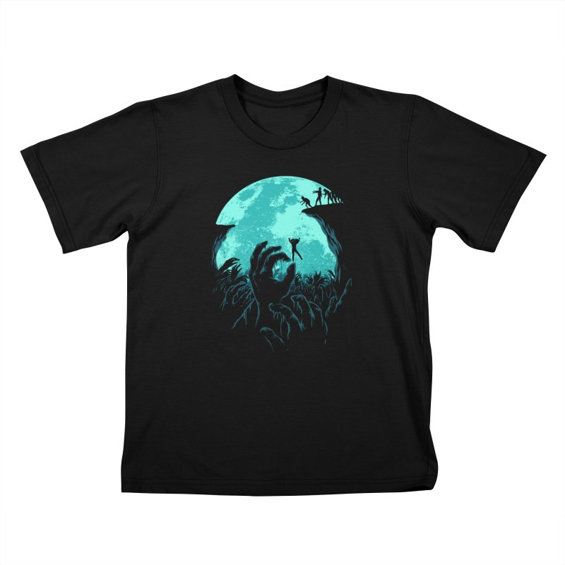 Sky Fall Kids T-Shirt by Fathi
