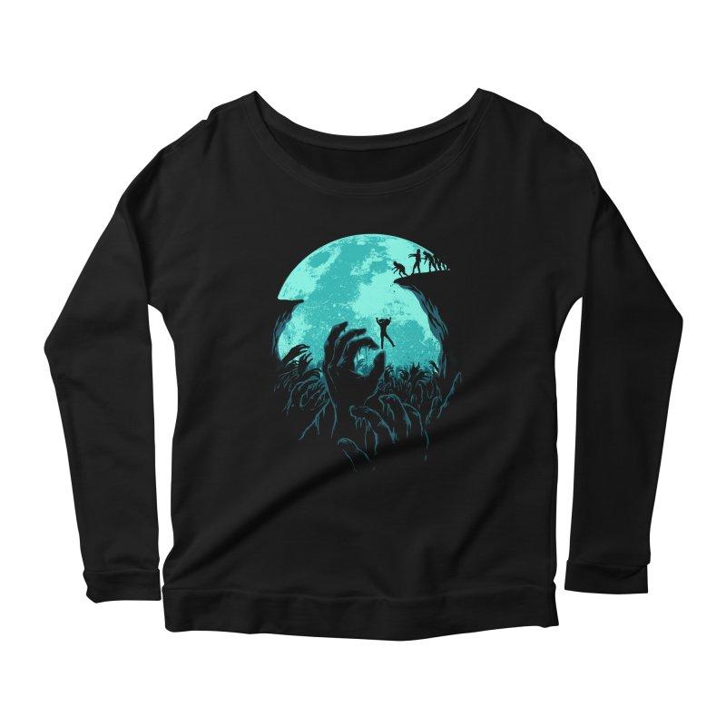 Sky Fall Women's Scoop Neck Longsleeve T-Shirt by Fathi