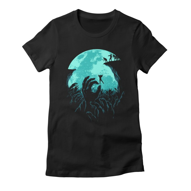 Sky Fall Women's Fitted T-Shirt by Fathi