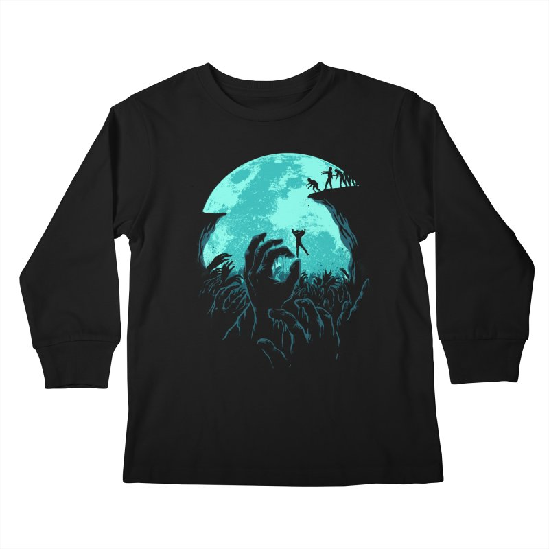 Sky Fall Kids Longsleeve T-Shirt by Fathi
