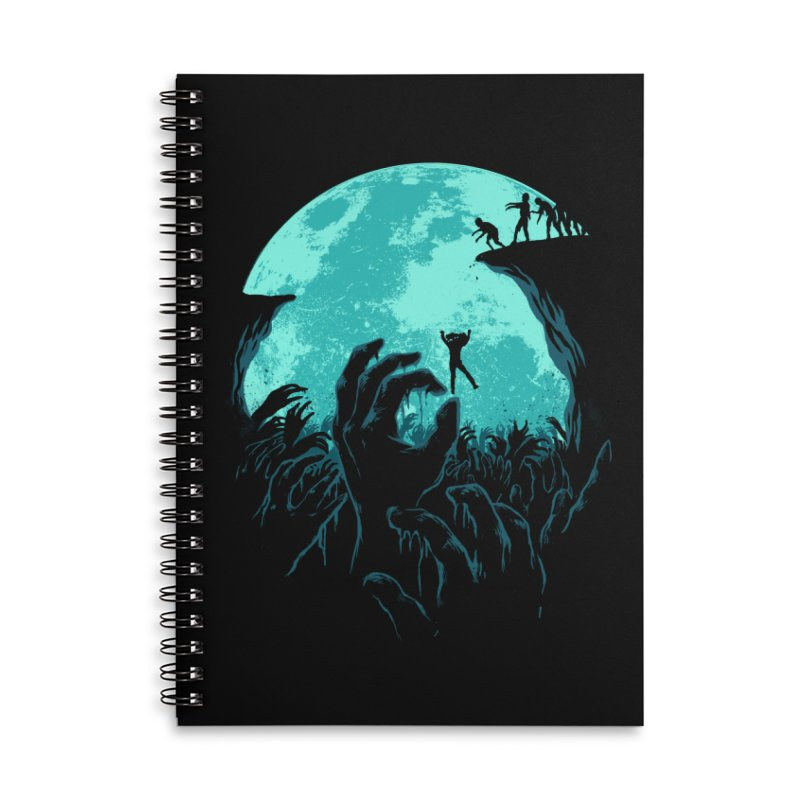 Sky Fall Accessories Lined Spiral Notebook by Fathi