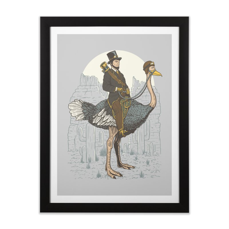 The Lone Ranger Home Framed Fine Art Print by Fathi
