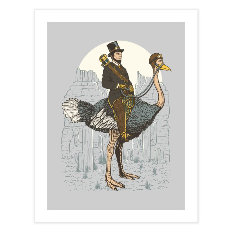 The Lone Ranger Home Fine Art Print by Fathi