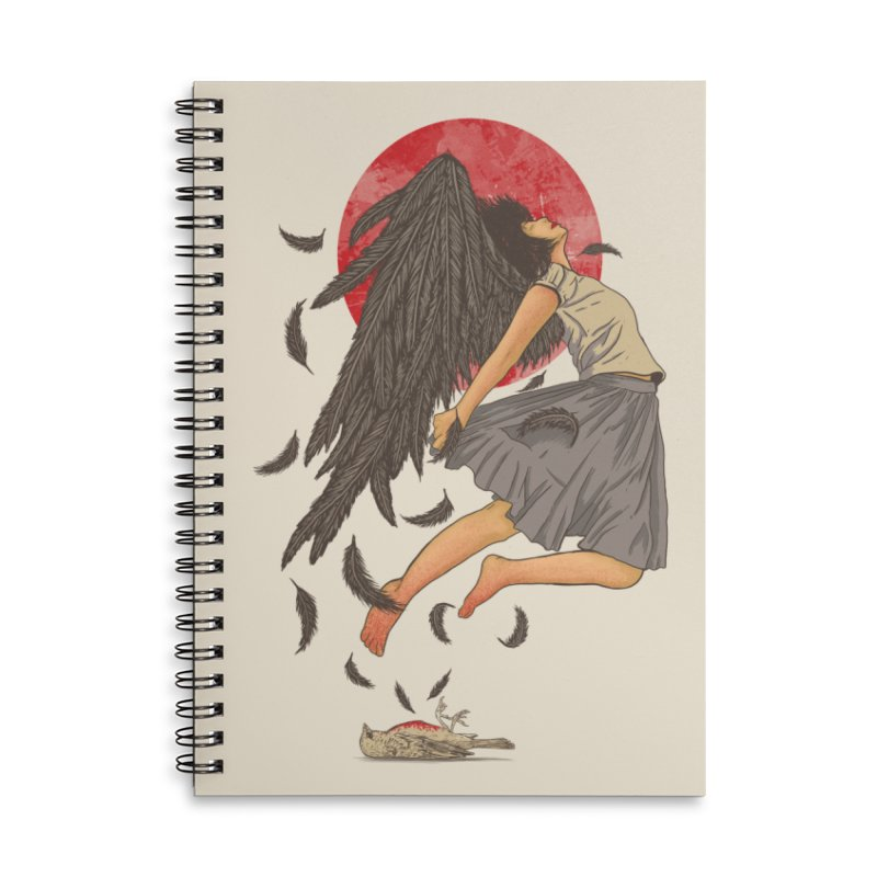 Rebirth Accessories Lined Spiral Notebook by Fathi