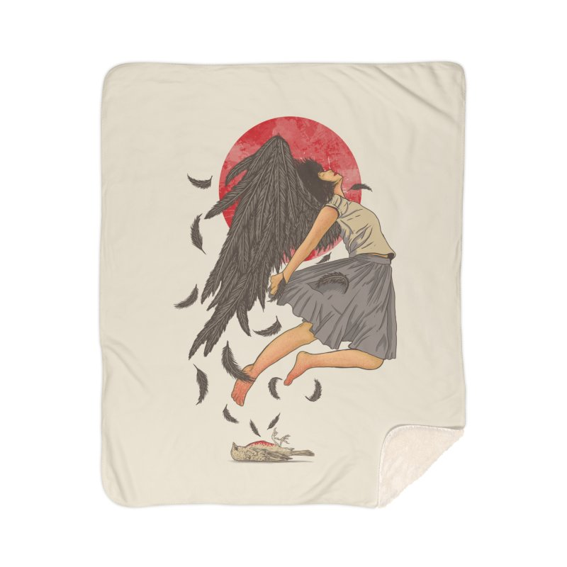 Rebirth Home Sherpa Blanket Blanket by Fathi