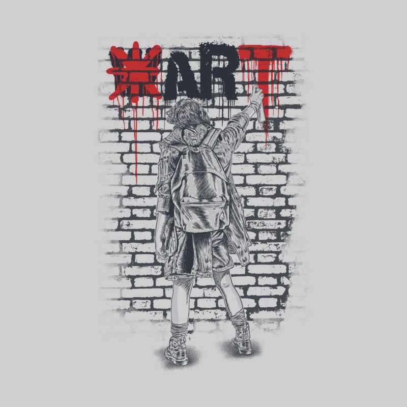 Make Art Not War Home Stretched Canvas by Fathi