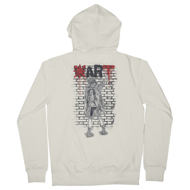 Make Art Not War Men's Zip-Up Hoody by Fathi