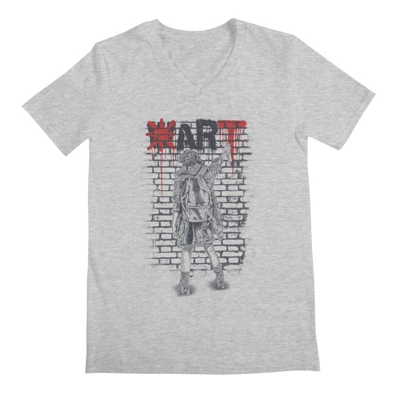 Make Art Not War Men's V-Neck by Fathi