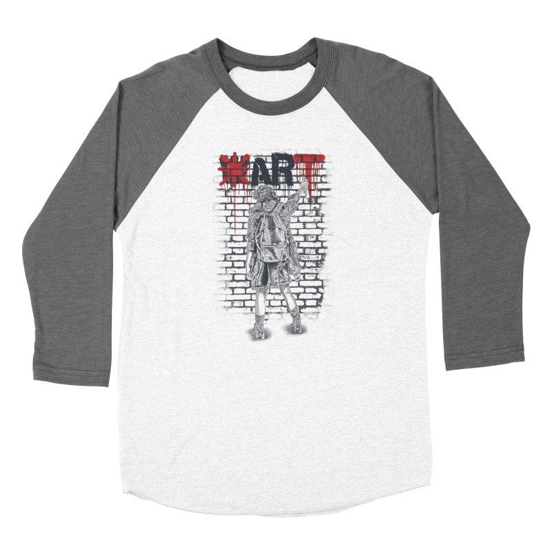 Make Art Not War Women's Longsleeve T-Shirt by Fathi