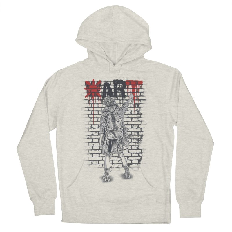 Make Art Not War Men's French Terry Pullover Hoody by Fathi
