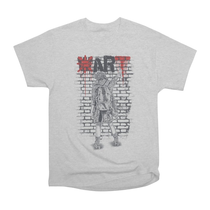 Make Art Not War Women's Heavyweight Unisex T-Shirt by Fathi