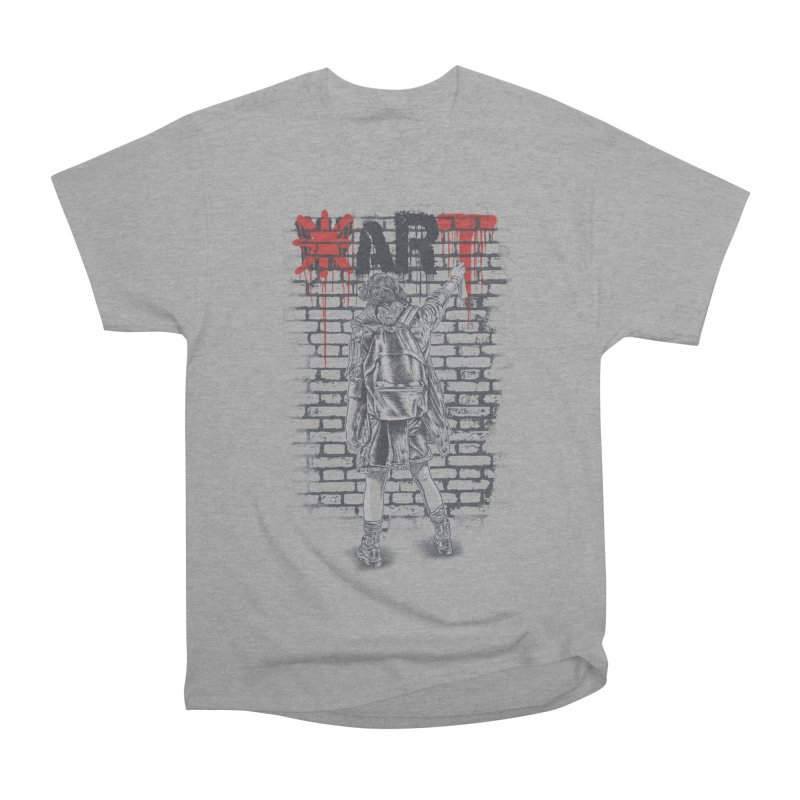 Make Art Not War Men's Heavyweight T-Shirt by Fathi