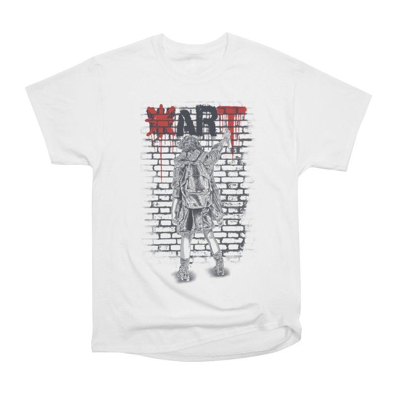 Make Art Not War Women's Classic Unisex T-Shirt by Fathi