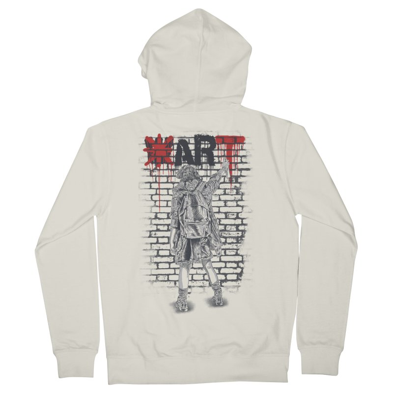 Make Art Not War Women's French Terry Zip-Up Hoody by Fathi