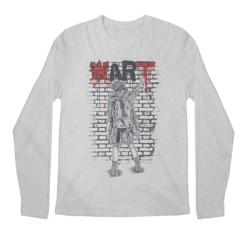 Make Art Not War Men's Regular Longsleeve T-Shirt by Fathi