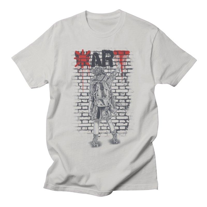 Make Art Not War Men's T-Shirt by Fathi
