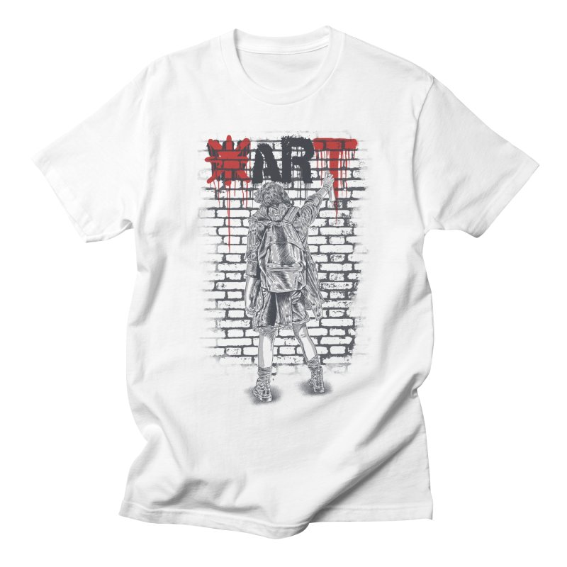 Make Art Not War Women's Regular Unisex T-Shirt by Fathi