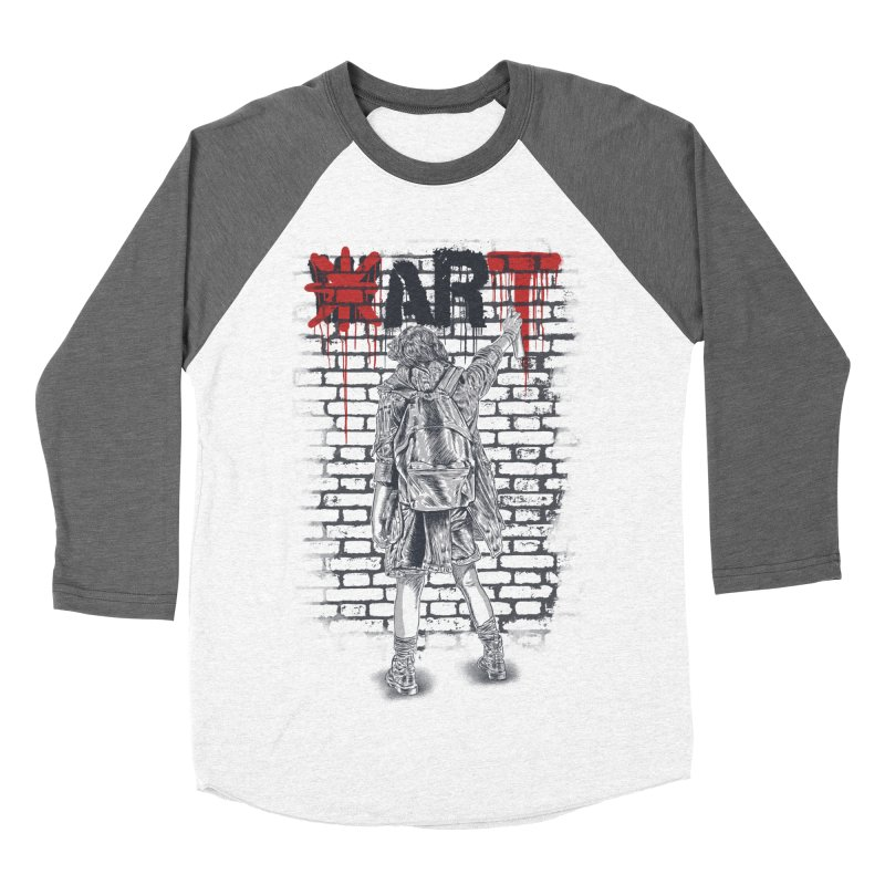 Make Art Not War Men's Baseball Triblend Longsleeve T-Shirt by Fathi