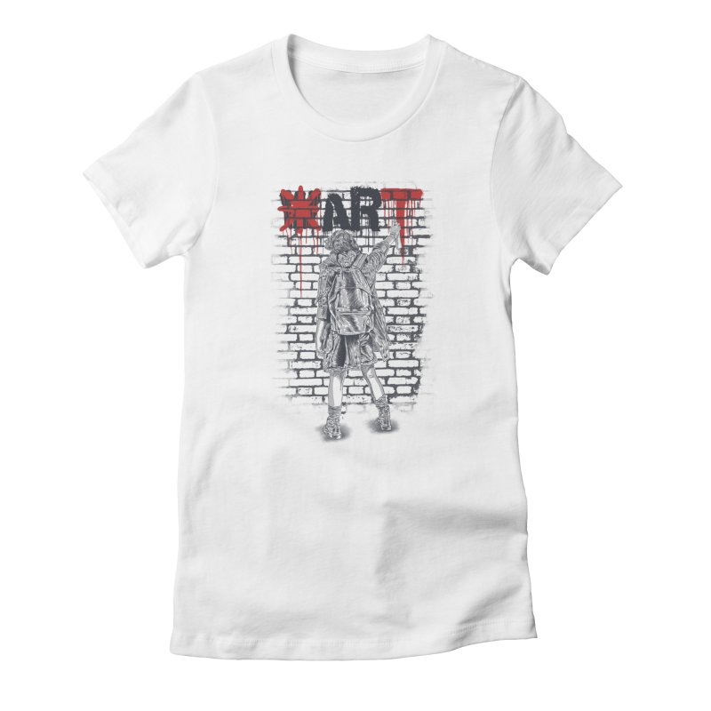 Make Art Not War Women's T-Shirt by Fathi