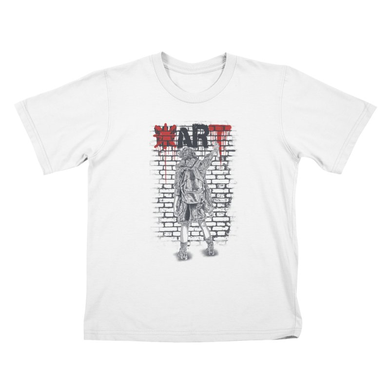 Make Art Not War Kids T-Shirt by Fathi