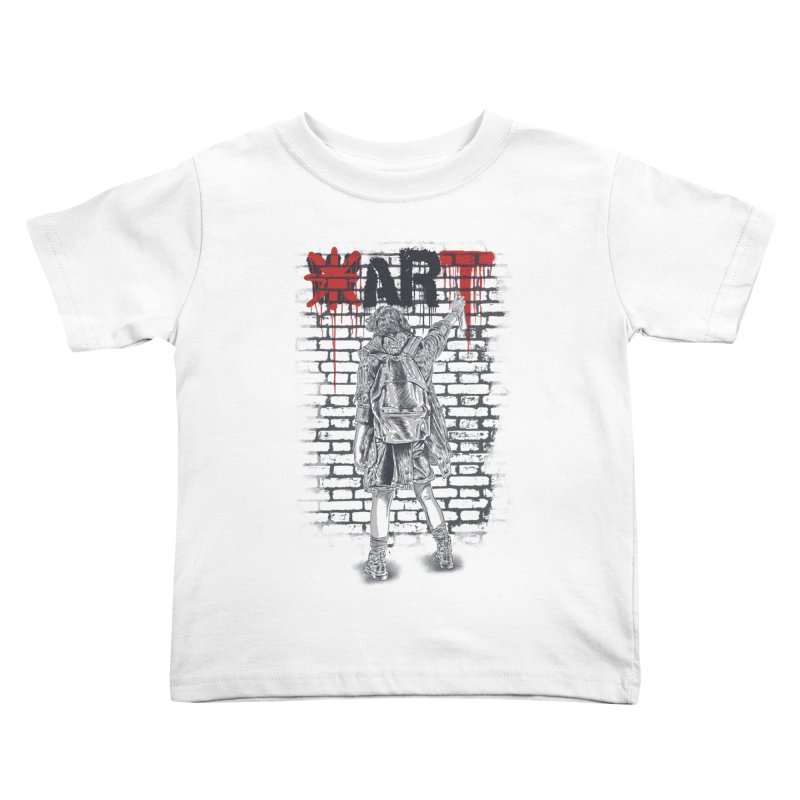 Make Art Not War Kids Toddler T-Shirt by Fathi