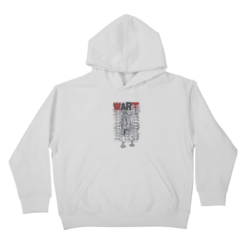 Make Art Not War Kids Pullover Hoody by Fathi