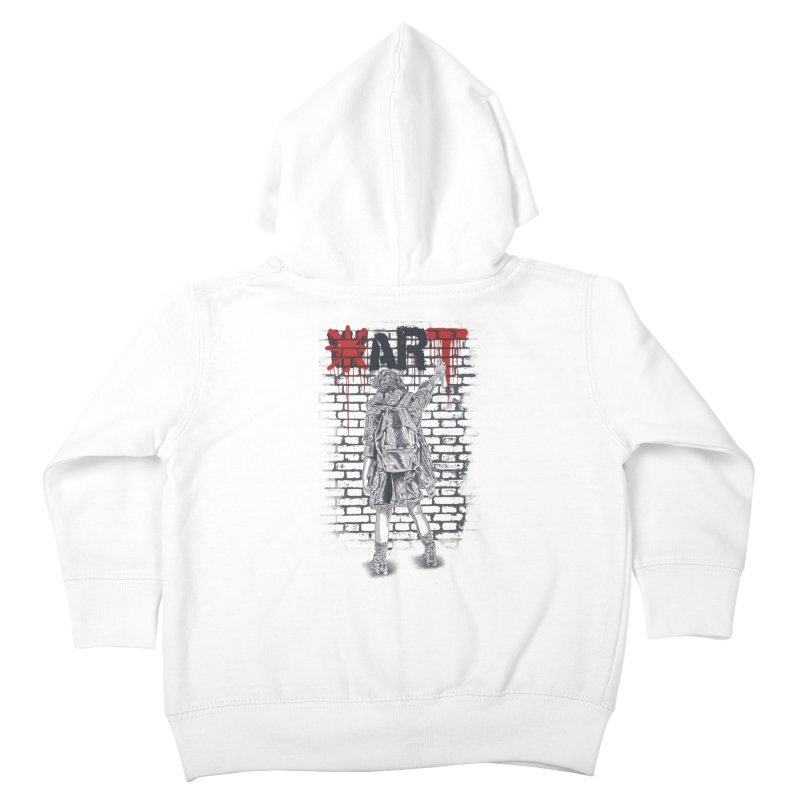 Make Art Not War Kids Toddler Zip-Up Hoody by Fathi