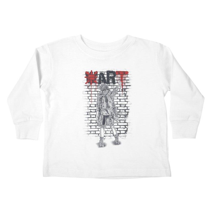 Make Art Not War Kids Toddler Longsleeve T-Shirt by Fathi