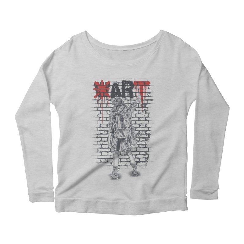 Make Art Not War Women's Longsleeve Scoopneck  by Fathi