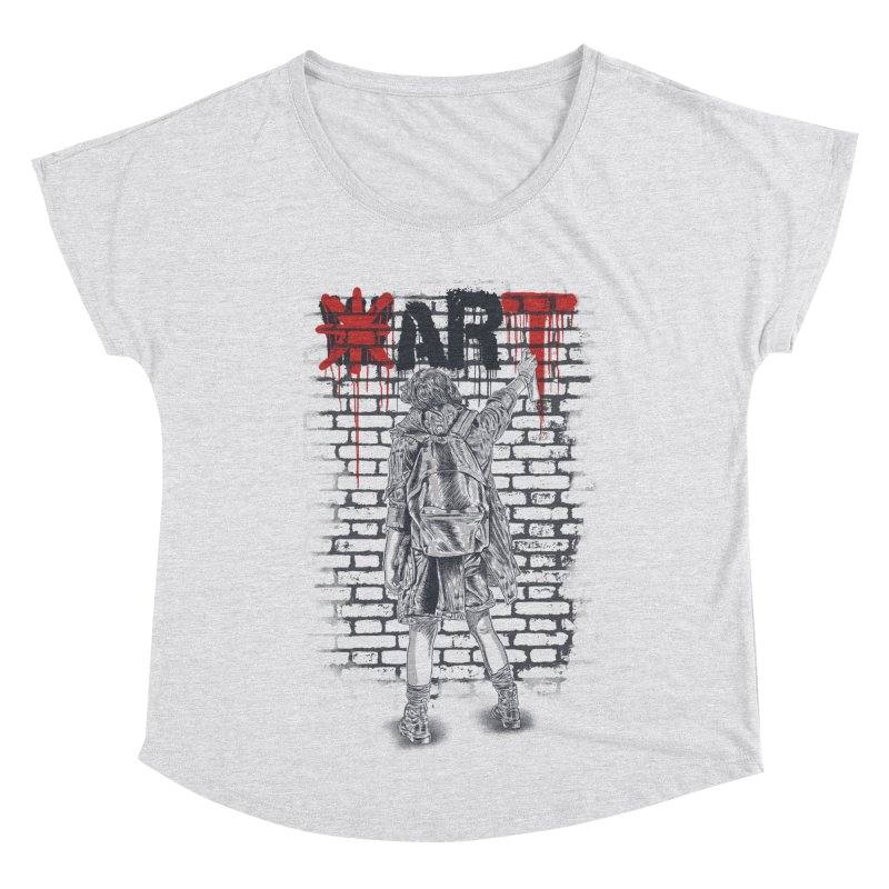 Make Art Not War Women's Scoop Neck by Fathi