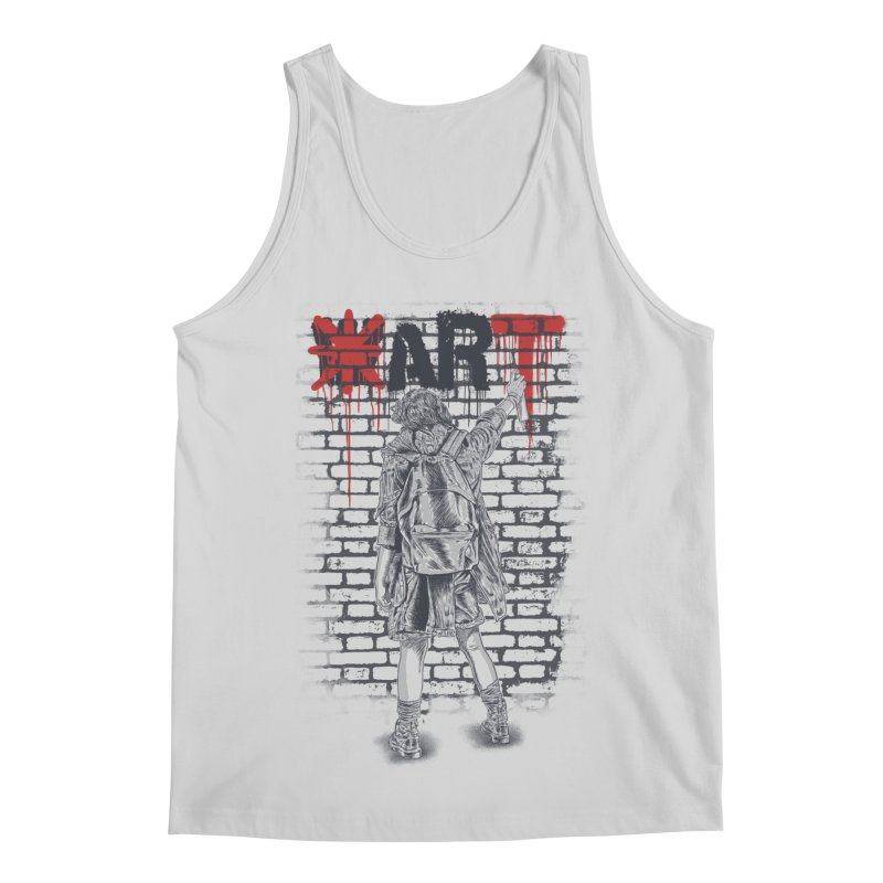 Make Art Not War Men's Regular Tank by Fathi