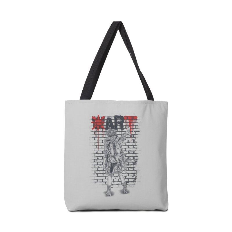 Make Art Not War Accessories Bag by Fathi