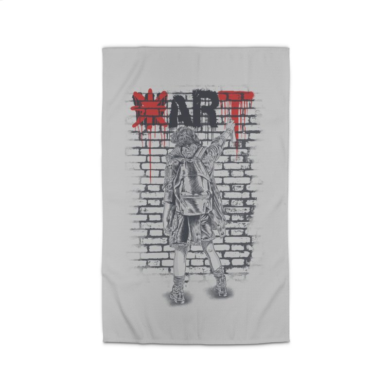Make Art Not War Home Rug by Fathi
