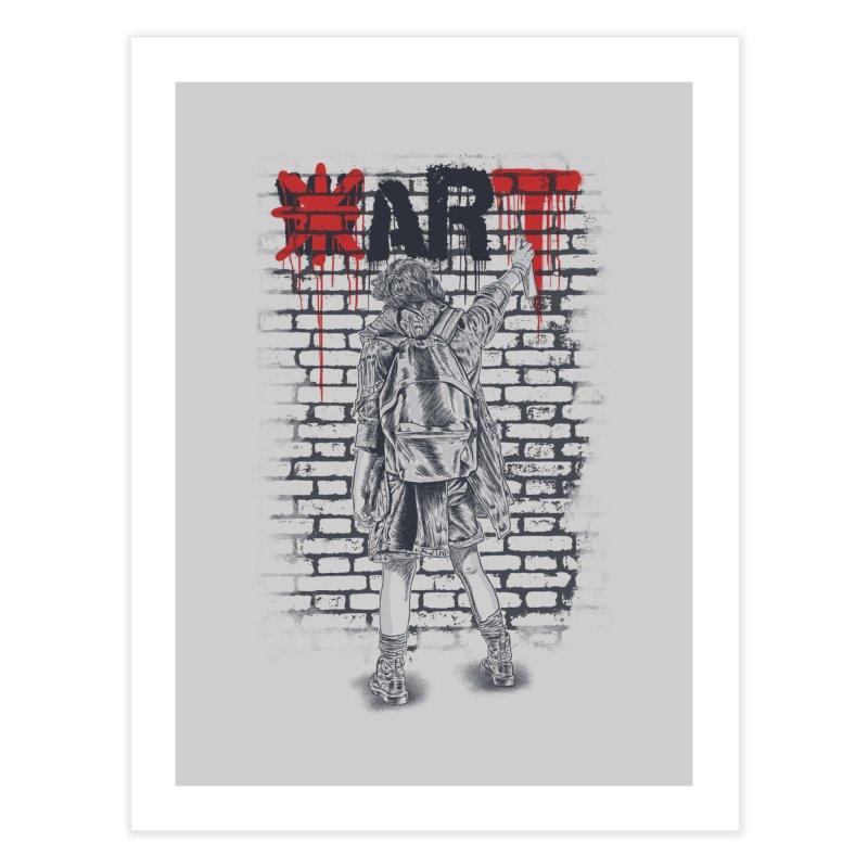 Make Art Not War Home Fine Art Print by Fathi