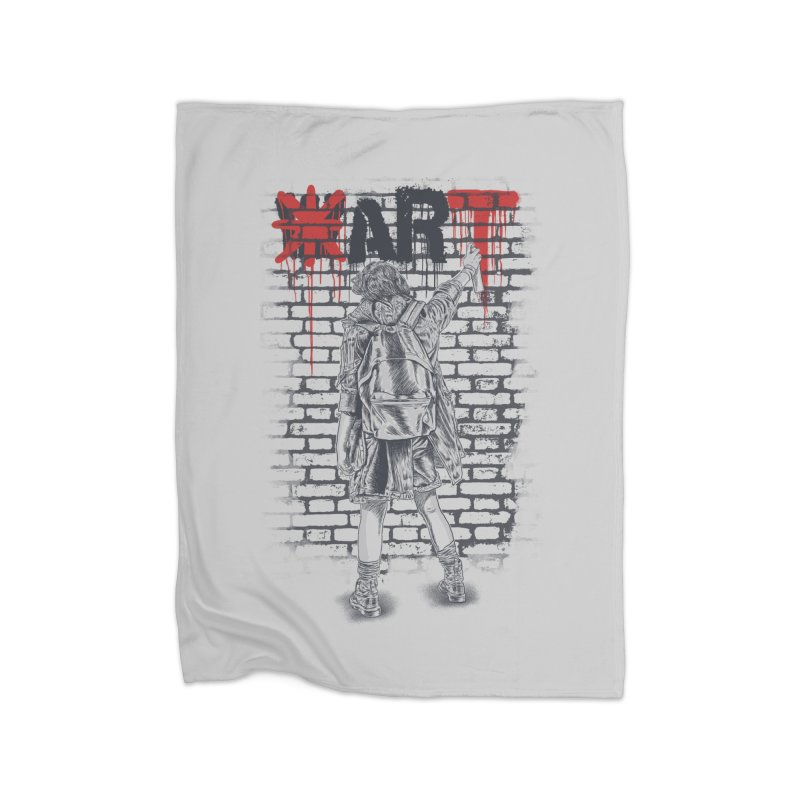 Make Art Not War Home Blanket by Fathi
