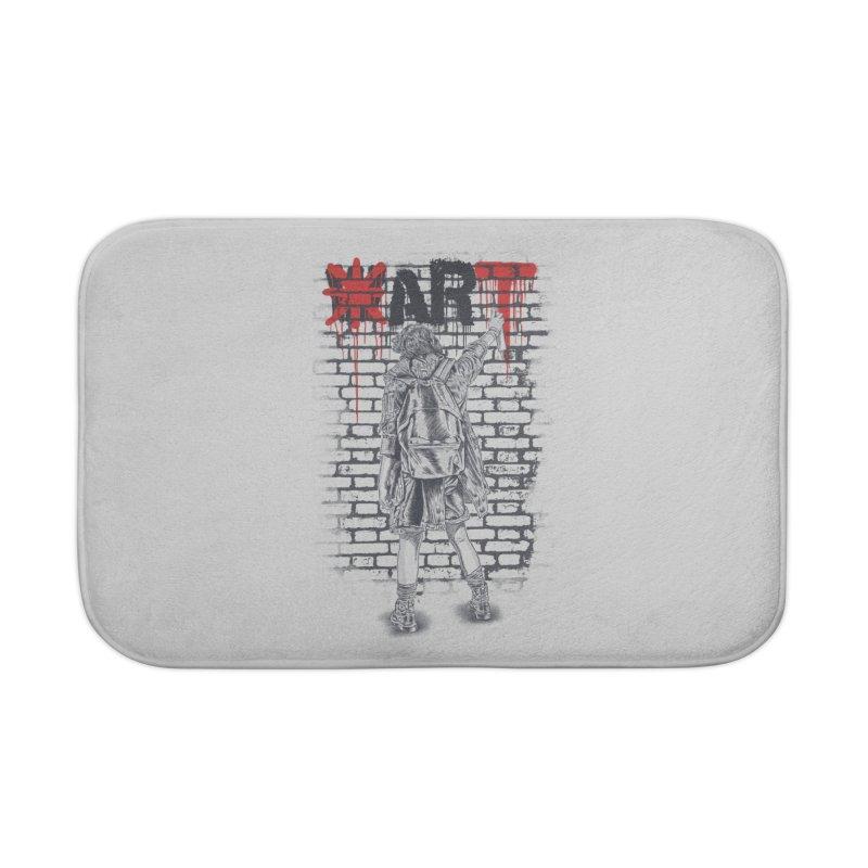 Make Art Not War Home Bath Mat by Fathi