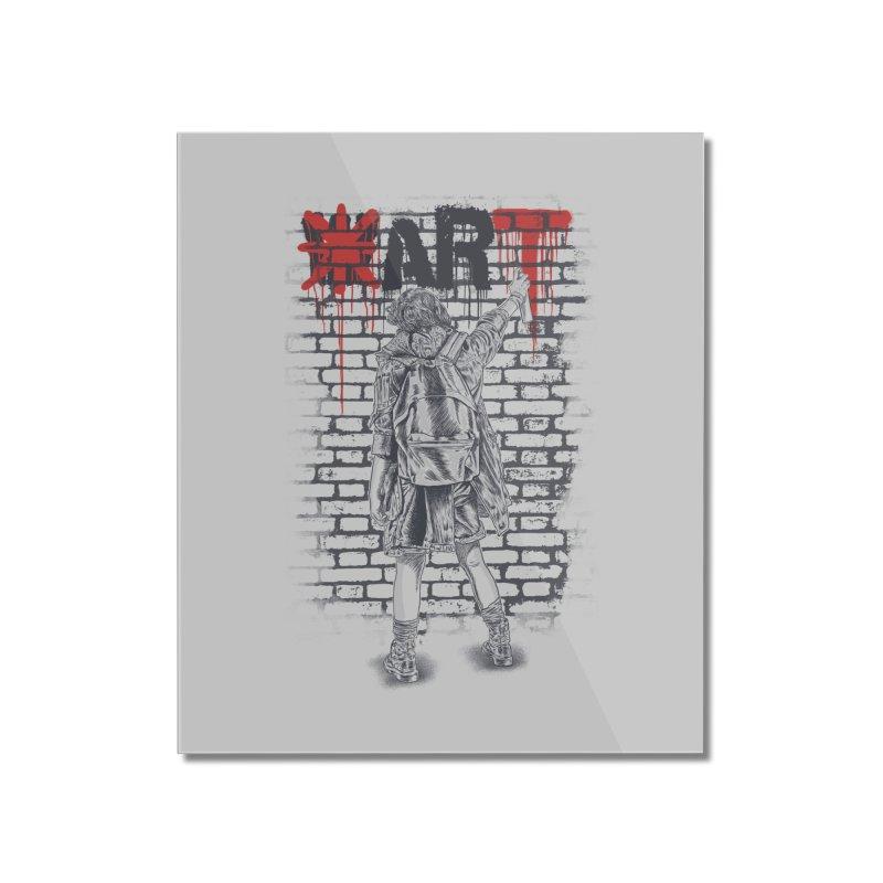 Make Art Not War Home Mounted Acrylic Print by Fathi
