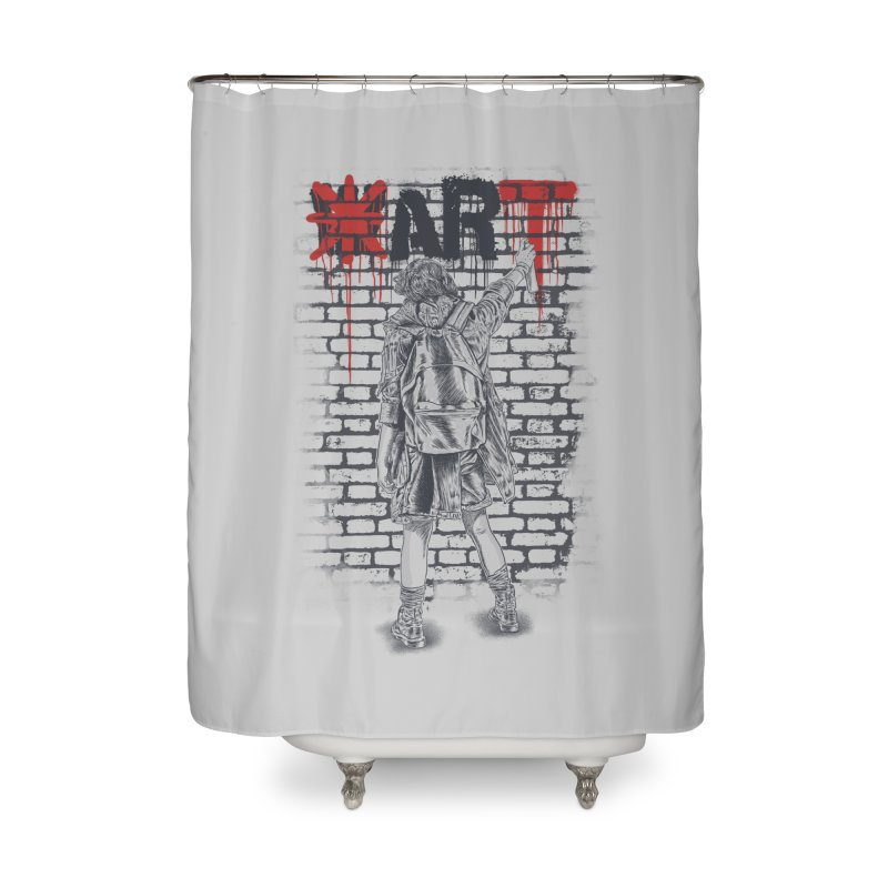 Make Art Not War Home Shower Curtain by Fathi