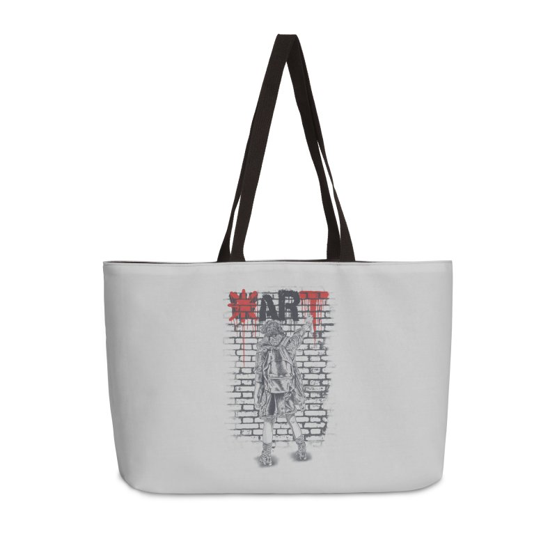 Make Art Not War Accessories Weekender Bag Bag by Fathi