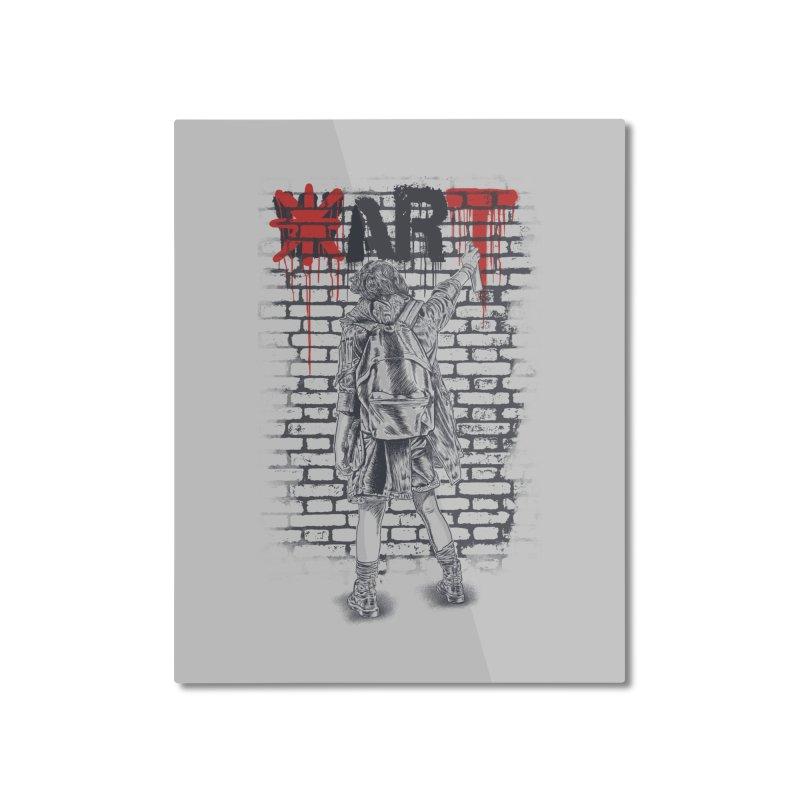 Make Art Not War Home Mounted Aluminum Print by Fathi
