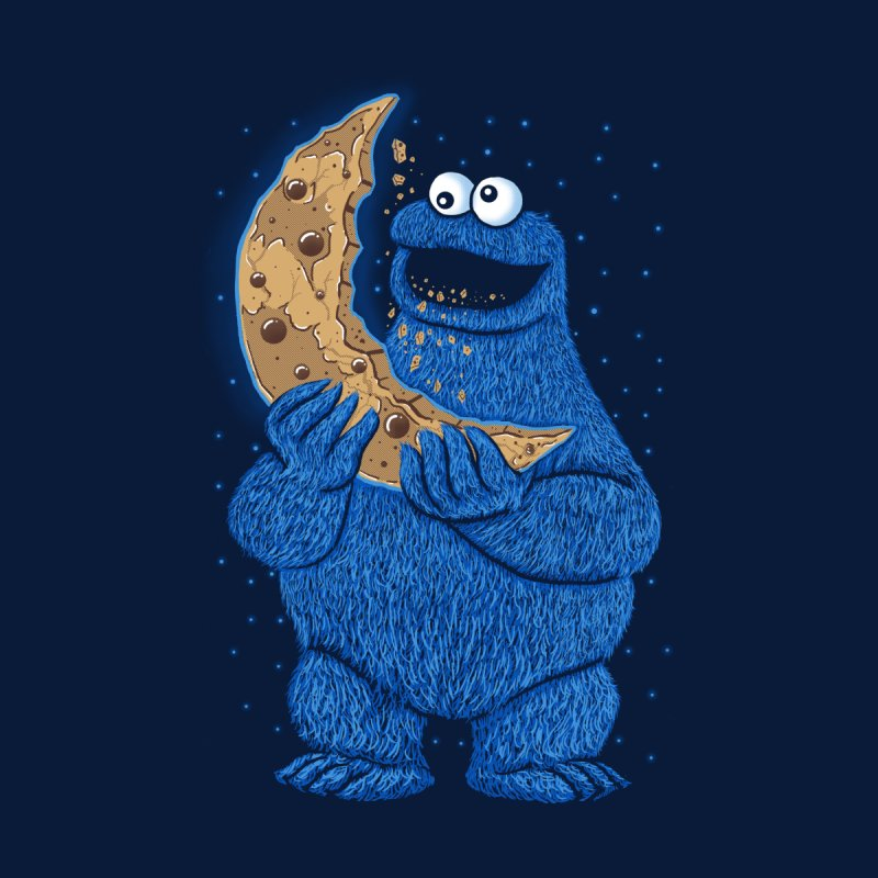 Cookie Moon Kids T-Shirt by Fathi