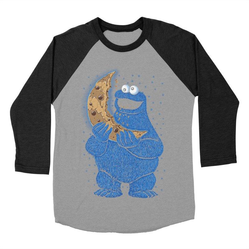 Cookie Moon Men's Baseball Triblend Longsleeve T-Shirt by Fathi