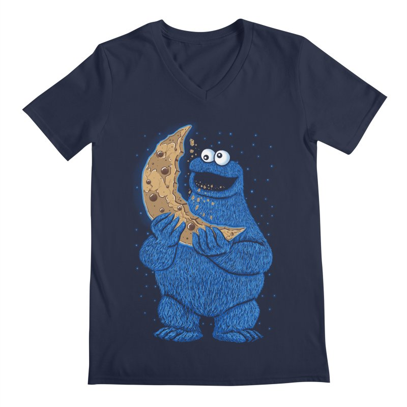 Cookie Moon Men's V-Neck by Fathi