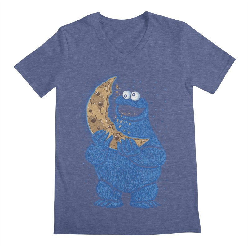 Cookie Moon Men's Regular V-Neck by Fathi